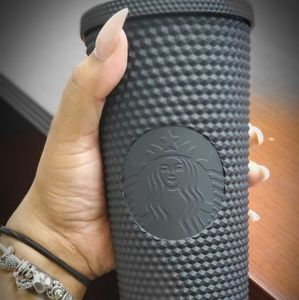 Sold out textured matte black Starbucks cup!